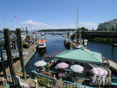 The Nanaimo Harbour is a beautiful place to rest, eat and enjoy a beautiful Vancouver Island day.
